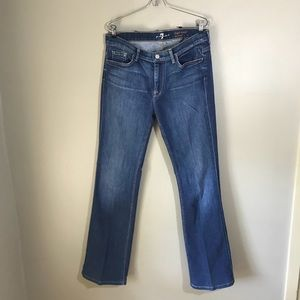 7 For All Mankind High Rise Bootcut Jeans